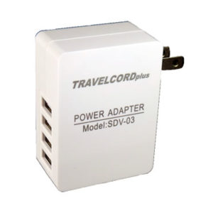 TravelCord 4 Port USB Travel Charger